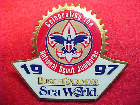 1997 pin, busch gardens/sea world
