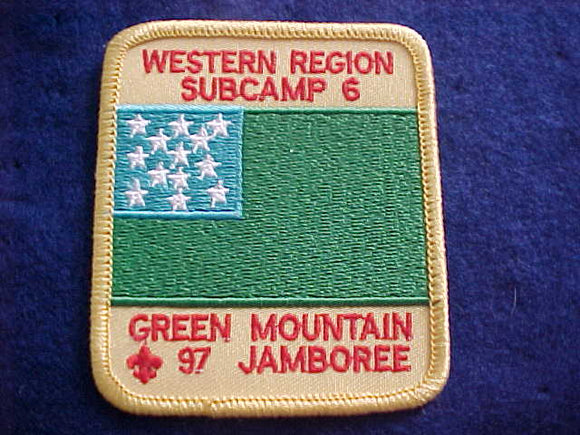 1997 NJ PATCH, SUBCAMP 6, WESTERN REGION