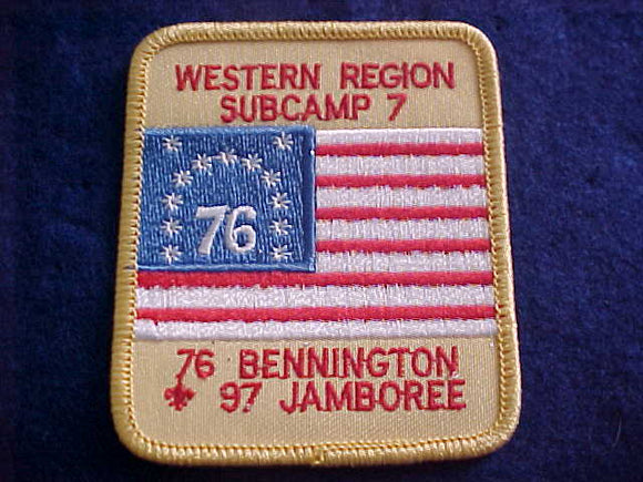 1997 NJ PATCH, SUBCAMP 7, WESTERN REGION