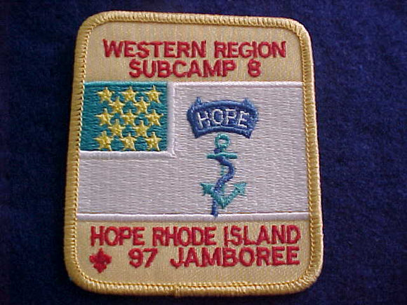 1997 NJ PATCH, SUBCAMP 8, WESTERN REGION