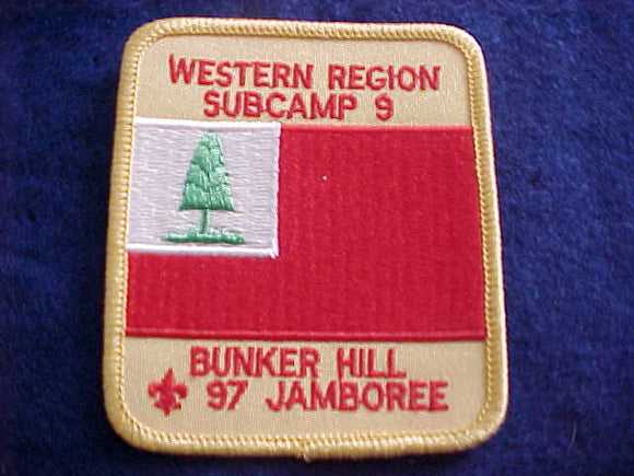 1997 NJ PATCH, SUBCAMP 9, WESTERN REGION