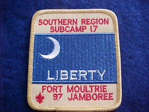 1997 NJ PATCH, SUBCAMP 17, SOUTHERN REGION