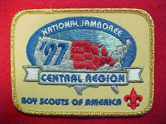 1997 patch, central region, gold mylar border