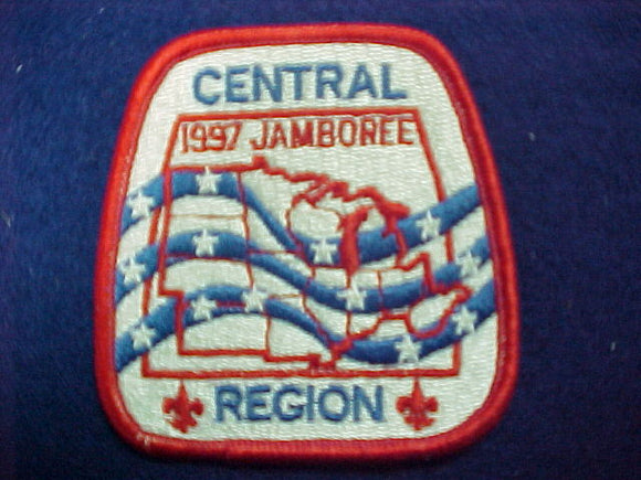1997 patch, central region, fully embroidered