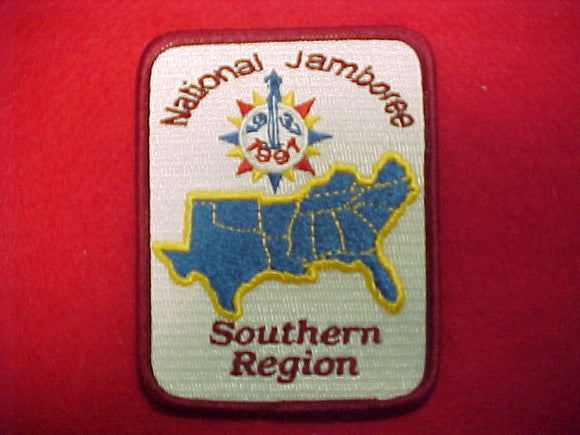 1997 patch, southern region, red border, fully embroidered
