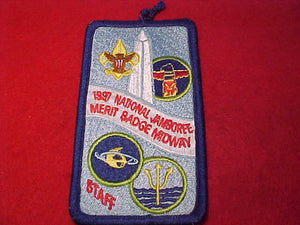 1997 NJ MERIT BADGE MIDWAY STAFF PATCH