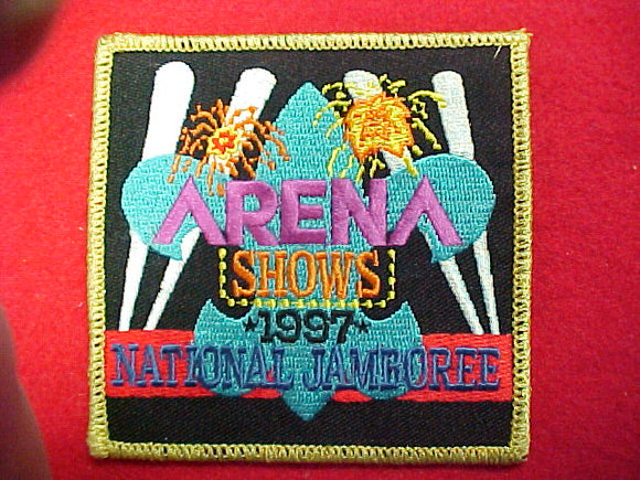 1997 patch, arena shows staff