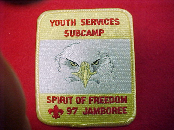 1997 patch, youth services subcamp, staff