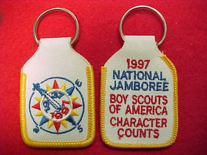 1997 keychain, embroidered