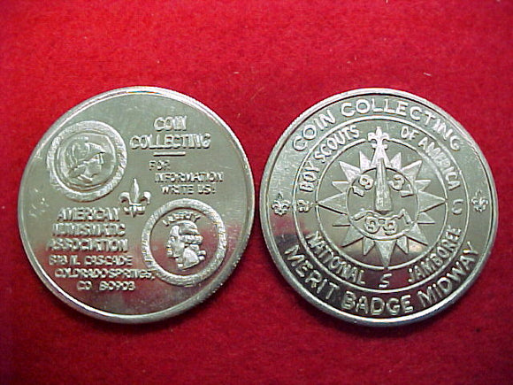 1997 token, coin collecting merit badge midway