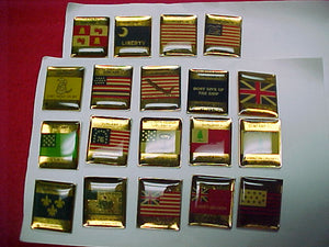 1997 subcamp pins, complete set of 19