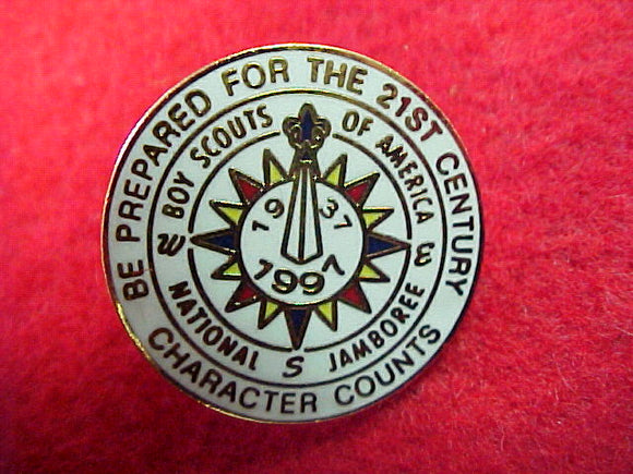 1997 pin, official, 22mm round