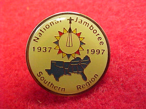1997 pin, southern region, round shape