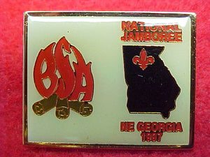 1997 pin, northeast georgia council contigent