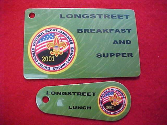 2001 NJ LUNCHTAGS (2), LONGSTREET BREAKFAST, LUNCH AND SUPPER
