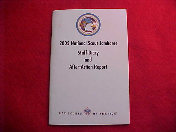2005 NJ BOOKLET STAFF DIARY AND AFTER-ACTION REPORT, 24 PAGES
