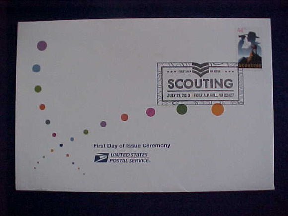 2010 NJ CACHET ENVELOPE, FIRST DAY OF ISSUE CEREMONY, USA/BSA 44¢ STAMP AND BROCHURE OF EVENT IN ENVELOPE