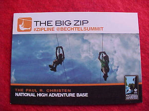 "2013 NJ CARD, ""THE BIG ZIP"", NATIONAL HIGH ADVENTURE BASE"