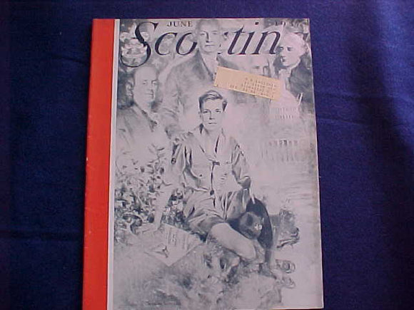 1937 NJ SCOUTING MAGAZINE, 6/1937, ARTIST: CHRISTY