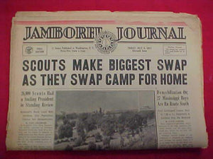 "1937 NJ NEWSPAPER, ""JAMBOREE JOURNAL"" 7/9/37, FINAL ISSUE"