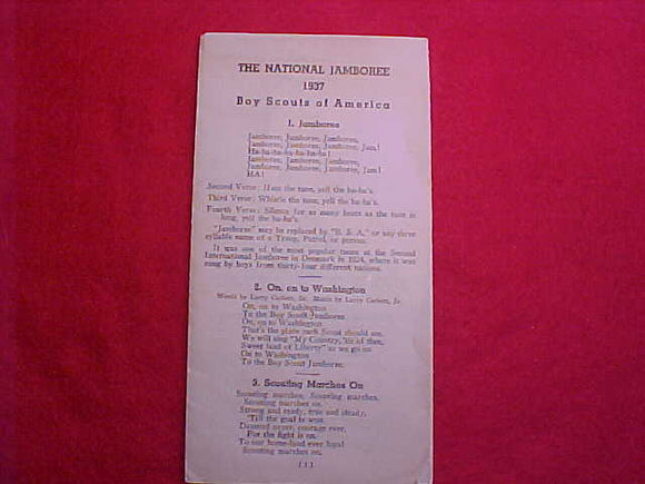 1937 NJ SONGBOOK, USED