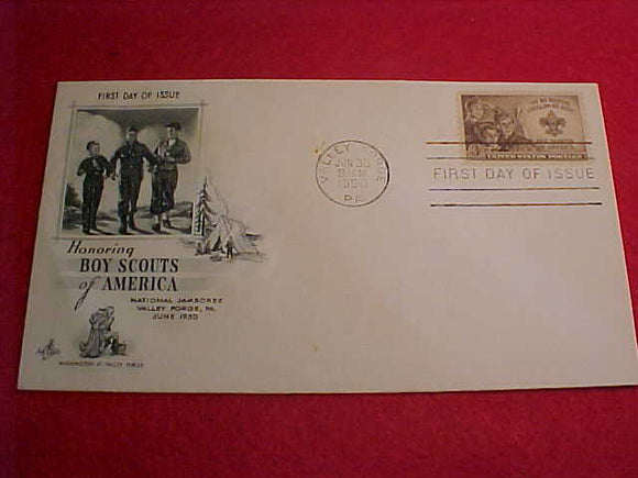 1950 NJ ENVELOPE, FIRST DAY COVER #1, W/3 CENT STAMP