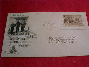 1950 NJ ENVELOPE, FIRST DAY COVER #3, W/3 CENT STAMP