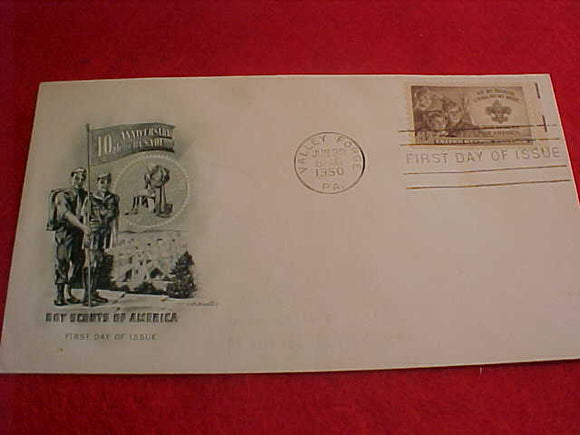 1950 NJ ENVELOPE, FIRST DAY COVER #5, W/3 CENT STAMP