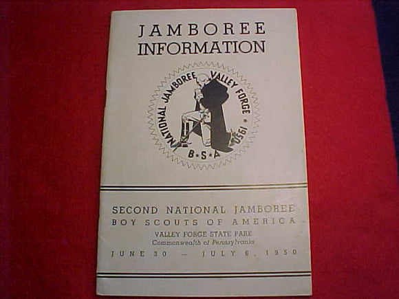 1950 NJ BOOKLET, JAMBOREE INFORMATION