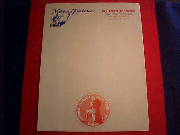 1950 NJ STATIONARY PAGE, LOS ANGELES AREA COUNCIL, 8.5 X 11