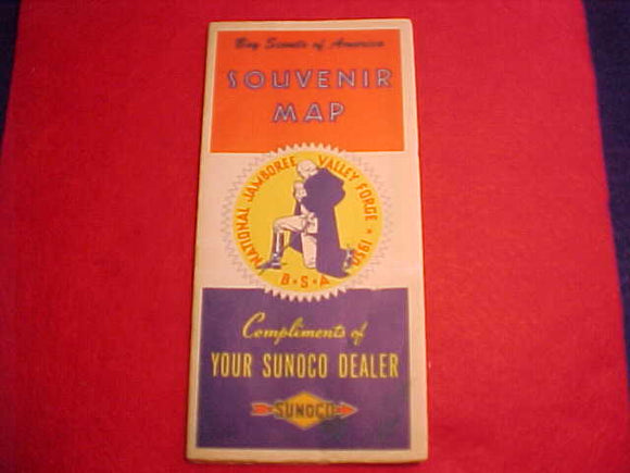 1950 NJ SOUVENIR MAP, COMPLIMENTS OF SUNOCO