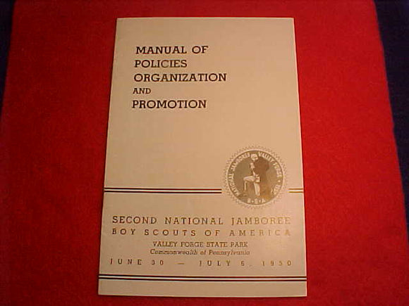 1950 NJ MANUAL, POLICIES ORGANIZATION AND PROMOTION