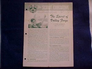 "1950 NJ MAGAZINE, ""THE SCOUT EXECUTIVE"", APRIL 1950, COVER ARTICLE BY E. URNER GOODMAN"
