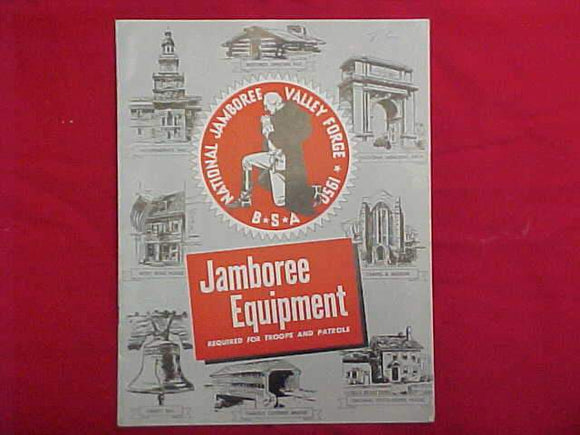 1950 NJ CATALOG, JAMBOREE EQUIPMENT REQUIRED FOR TROOPS AND PATROLS
