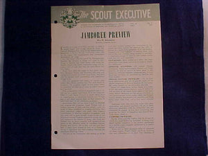 "1953 NJ MAGAZINE, ""THE SCOUT EXECUTIVE"", 5/1953, JAMBO PREVIEW ARTICLE"