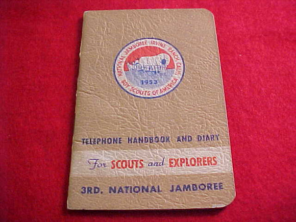 1953 NJ TELEPHONE HANDBOOK AND DIARY FOR SCOUTS AND EXPLORERS