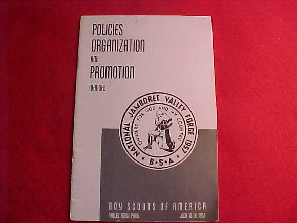 1957 NJ MANUAL, POLICIES ORGANIZATION AND PROMOTION