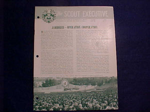 "1957 NJ MAGAZINE, ""THE SCOUT EXECUTIVE"", 8/1957, JAMBO ARTICLE"