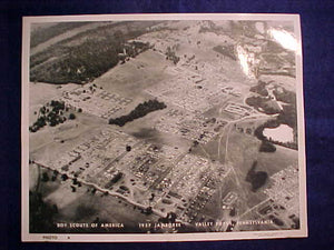 "1957 NJ AERIAL PHOTO ""A"", VALLEY FORGE, PENNSYLVANIA, 8 X 10"""