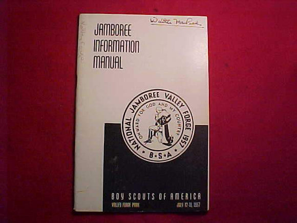 1957 NJ BOOKLET, JAMBOREE INFORMATION MANUAL, USED