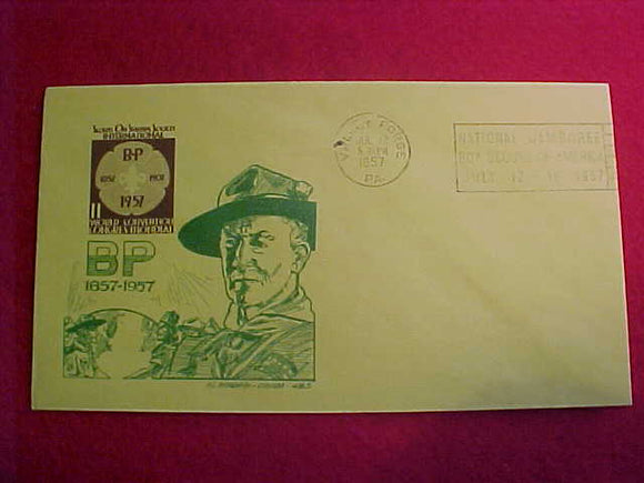 1957 NJ CACHE, SCOUTS ON STAMPS, FOR 1957 NJ AND WORLD CONGRESS CONVENTION