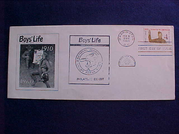 1960 NJ ENVELOPE, BOYS' LIFE MAGAZINE FIRST DAY COVER