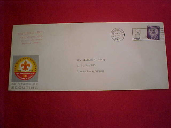 1960 NJ ENVELOPE, ADDRESSED TO GRANTS PASS, OR