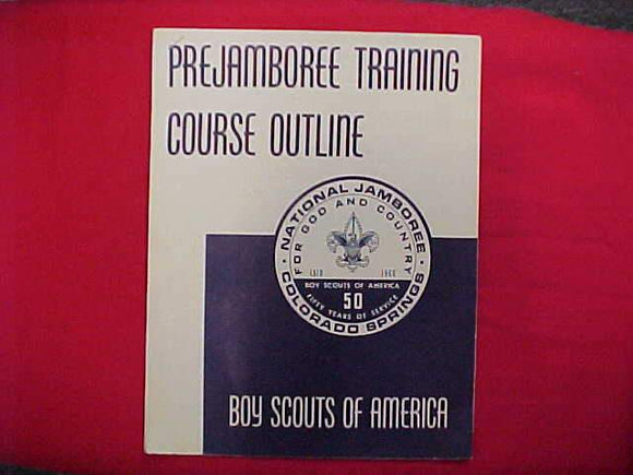 1960 NJ BOOKLET, PREJAMBOREE TRAINING COURSE OUTLINE