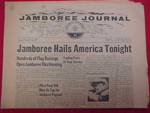 "1960 NJ NEWSPAPAPER, ""JAMBOREE JOURNAL"" 7/22/60, ISSUE #1"