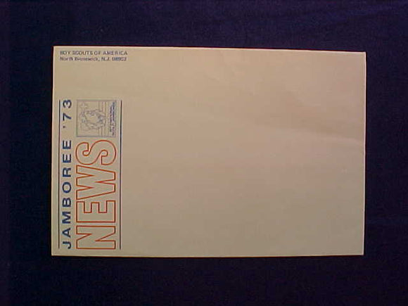 1973 NJ ENVELOPE, JAMBOREE NEWS