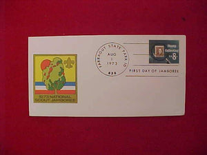 1973 NJ ENVELOPE, FIRST DAY OF JAMBOREE, CANCELLED, FARRAGUT STATE PARK, ID 8/1/73