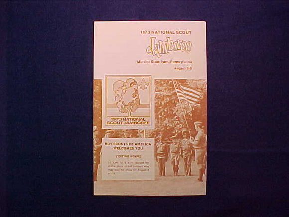 1973 NJ BROCHURE, JAMBOREE EAST VISITOR'S INFO