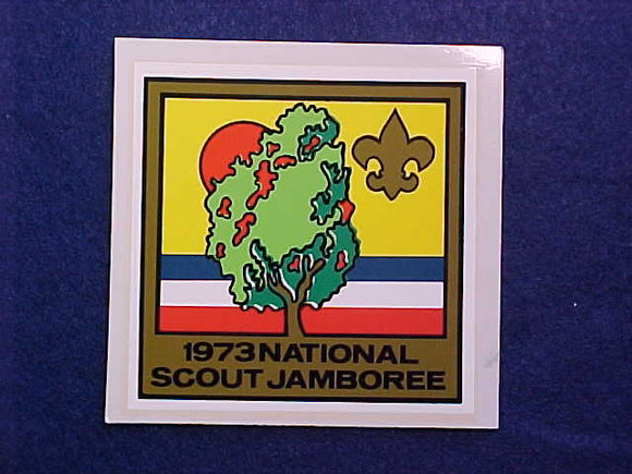 1973 NJ DECAL, 3X3, SOLD AS PAIR