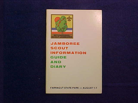 1973 NJ GUIDE AND DIARY, SCOUT INFORMATION, FARRAGUT STATE PARK